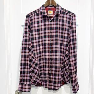 Hugo Boss Orange Label Slim Plaid Flannel Shirt